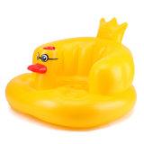 Divertido agradable cómodo PVC o TPU inflable amarillo pato bebé baño asiento
