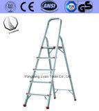 Ladder van het Huishouden van het Aluminium van 5 Stappen van de hoogste Kwaliteit de Oranje
