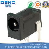 Гнездо Jack силы DC держателя размера 1.65mm штифта в сердечнике электромагнита черное пластичное поверхностное