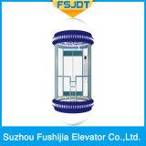 Sightseeing лифт с беззубчатой подъемной машиной трения