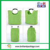 4つのびんの非編まれたワイン袋かハンドルのショッピング・バッグ