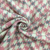Drei Farben Houndstooth Check-Wolle-Gewebe betriebsbereit