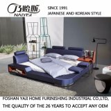 寝室の使用(FB8040A)のための紫色カラーファブリック柔らかいベッド
