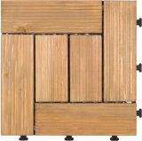 Carreaux de toit en bois antidérapants extérieurs anti-glissement pour jardin