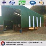 Armazém do frame de aço/oficina/vertente claros ondulados do armazenamento