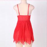 Frauen-rote Spitzebabydoll-Dame-reizvolle Wäsche