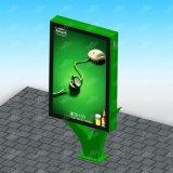 달력을%s 가진 현대 수직 두루말기 옥외 광고 Lightbox 구조