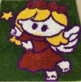 Hierba de Custerized de la foto de la alfombra de la hierba del estilo del cartón