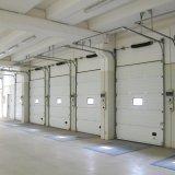 Дверь промышленного пакгауза надземная секционная для сбывания