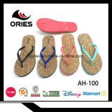 Cadute di vibrazione di legno di modo di stile delle donne della cinghia del PVC del grano con EVA Outsole