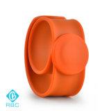 Bracelete durável da faixa de pulso do silicone de RFID com aço inoxidável flexível