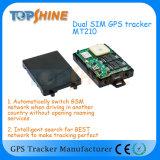 El sistema interno dual superventas Mt210 del perseguidor del fabricante SIM GPS de Topshine con el CRNA detecta