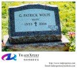 Disposto nel cimitero un Headstone dritto di inclinazione del granito