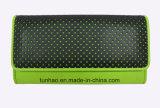 Raccoglitore dell'PU di stile del popolare di colore verde della signora con il disegno del laser