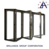 Double vitrage en tant que porte grillagée en aluminium de pli de Bi de fabrication normale