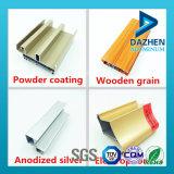 Profil en aluminium en aluminium d'extrusion des graines en bois avec différentes couleurs