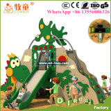 Скольжения пластичного материала детей напольные, земля игры малышей сползают для тематического парка и школы