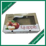Bandeja de papel corrugado de cartón con un rectángulo de la fruta