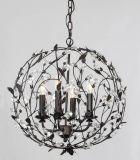 Candelabro de cristal decorativo leve de /Mini da luz do pendente do preto 3 do cetim mini