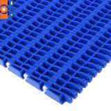 H 900 Plastic Modulaire Transportband Met platte kop