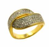 925 l'argento sterlina CZ intarsia l'anello d'imitazione dei monili