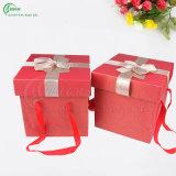 Rectángulo de papel de empaquetado de la cartulina de encargo profesional para la ropa/el regalo/la camiseta/la joyería/la torta/el té/el cosmético (KG-PX037)