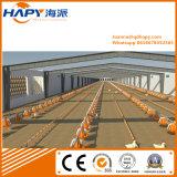 L'azienda agricola di pollo prefabbricata della struttura d'acciaio si è liberata di con le strumentazioni degli insiemi completi
