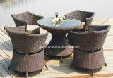 Conjunto de móveis de quintal em vime de vime ao ar livre (LL-R002)