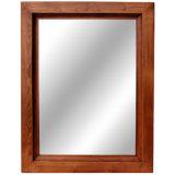Het zwarte Houten Frame van de Spiegel voor de Decoratie van de Muur van het Hotel