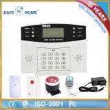 Manual inteligente do sistema de alarme da casa da G/M da tela do LCD