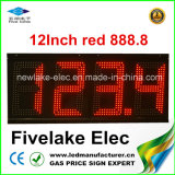 visualización de la muestra del cambiador del precio de la gasolina de 12inch LED (NL-TT30F-3R-4D-RED)