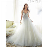 China Maß weißer Tüll Brautkleid 2016