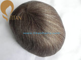 Hairpiece 100% Remy людской с тонким основанием кожи