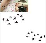Etiquetas engomadas temporales impermeables del tatuaje del diseño del modelo del pájaro