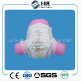 Couche-culotte de catégorie B de bébé de papier de sève avec la grande taille élastique