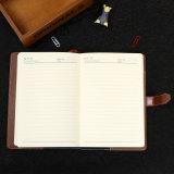 Тетрадь книга в твердой обложке PU высокого качества кожаный, печатание дневника с замком