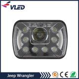 Par de Negro Reemplazo de 8 pulgadas LED Faro Luz de trabajo para Jeep Wrangler JK 2 Puerta 4 Puerta Land Rover Defender
