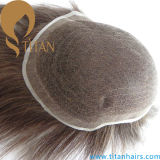 Personalizada Hand Tied Switch Toupee Full Swiss Swiss Lace Hair System