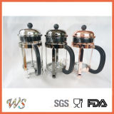 Wschmy004銅のフランス人の出版物熱い販売法のステンレス鋼のコーヒー出版物のホウケイ酸塩のフランス人の出版物