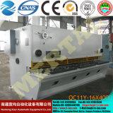 Vendita calda! Le cesoie idrauliche della ghigliottina di QC11y (k) -16X4000 (CNC), rivestono le macchine per il taglio di metalli