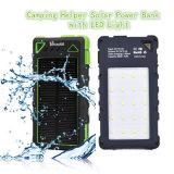 Cargador solar colorido del diseño 10000mAh de los ganchos de leva de la batería dual de la energía solar