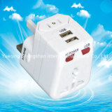 USBの充電器が付いているオールインワンユニバーサル旅行アダプター