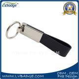 Кожа высокого качества дешевые и металл Keychain для подарка промотирования