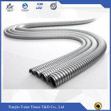 Mangueira corrugada e trançada do aço inoxidável do metal flexível