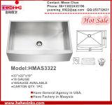 Handmade 앞치마 농가 수채, 스테인리스 부엌 개수대 Hmas3322, Undermount Cupc Sink&Basin 의 위생 수채, 세면기