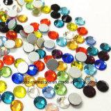 못 아트 데코를 위한 에메랄드 색 비 Ab 색깔 Ss20 Flatback Hotfix 유리제 모조 다이아몬드