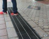 Reja de acero negra para la calzada, plataforma