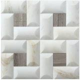 Mosaico de mármol blanco de Carrara del azulejo de la piedra del material de construcción (FYSC396)