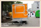 Тележка кофеего трейлера кухни быстро-приготовленное питания панели Ys-Fb390d 3.9m Re-Enforced стеклом передвижная