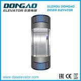 Ascenseur panoramique avec la cabine en verre
